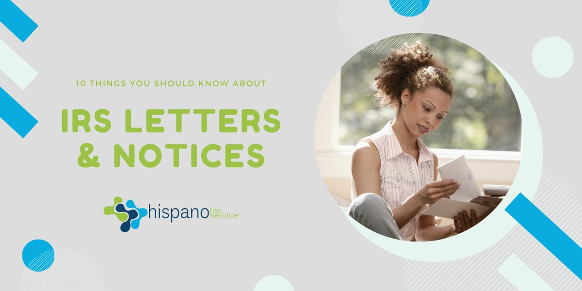 IRS letters and notices - Income Tax Preparation - Hispano Tax Service Blog
